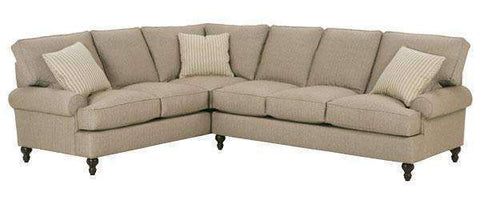 Fabric Sectional Sofa Marie Traditional 2 Piece Tall Back Fabric Sectional Sofa (As Configured)