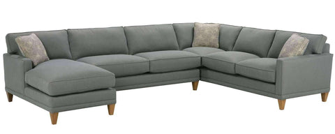 Fabric Sectional Sofa Nicole Contemporary 3 Piece Fabric Sectional With Chaise (As Configured)