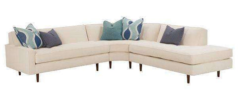 Fabric Sectional Sofa Zoey Tight Back Mid Century Fabric Sectional With Bumper (Version 2 As Configured)
