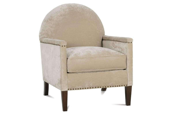 Fabric Upholstered Accent Chairs And Chaise Agatha Rounded Back Fabric Accent Chair