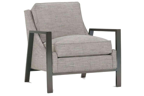 "Fabric Upholstered Accent Chairs And Chaise Angie ""Designer Style"" Fabric Chair With Burnished Steel Metal Frame"