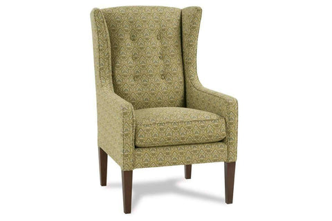 "Fabric Upholstered Accent Chairs And Chaise Belinda ""Designer Style"" Victorian Fabric Upholstered Wingback Accent Chair"