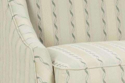 "Fabric Upholstered Accent Chairs And Chaise Clara ""Designer Style"" Skirted Fabric Chair w/ Sloping Arms"