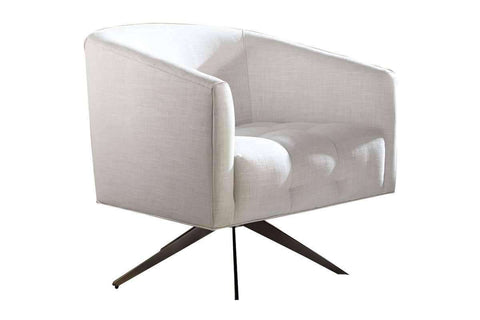 "Fabric Upholstered Accent Chairs And Chaise Danett ""Designer Style"" Upholstered Swivel Accent Tub Chair"