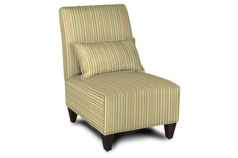"Fabric Upholstered Accent Chairs And Chaise Gabrielle ""Designer Style"" Armless Fabric Upholstered Slipper Accent Chair"