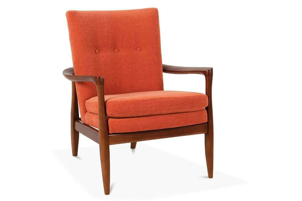Fabric Upholstered Accent Chairs And Chaise Joely Upholstered Contemporary Button Back Accent Chair