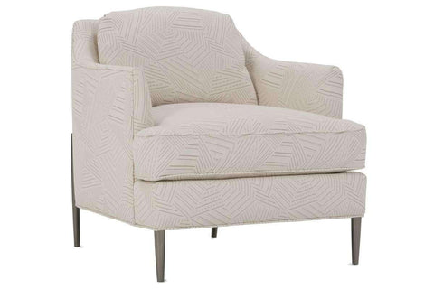 "Fabric Upholstered Accent Chairs And Chaise Joy ""Designer Style"" Fabric Chair With Burnished Steel Metal Frame"