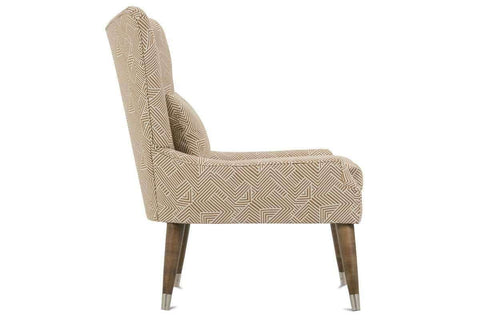 "Fabric Upholstered Accent Chairs And Chaise Joyce ""Designer Style"" Mid-Century Modern Fabric Living Room Accent Chair"