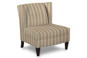 "Fabric Upholstered Accent Chairs And Chaise Lila ""Designer Style"" Fabric Upholstered Armless Wingback Accent Chair"