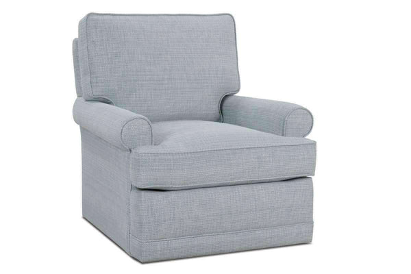 Fabric Upholstered Accent Chairs And Chaise Lisa Swivel Glider Woman's Accent Chair