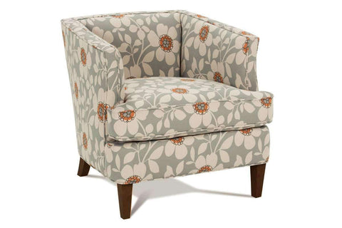 Fabric Upholstered Accent Chairs And Chaise Lizzie Fabric Upholstered Unique Small Accent Chair