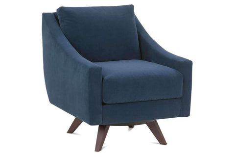 Fabric Upholstered Accent Chairs And Chaise Marla Contemporary Modern Swivel Chair
