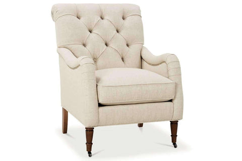 Fabric Upholstered Accent Chairs And Chaise Marni Fabric Button Tufted Back English Arm Accent Chair