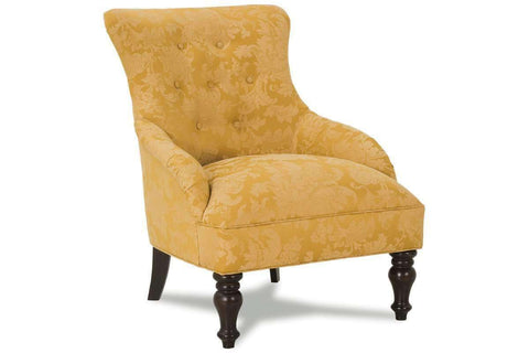 "Fabric Upholstered Accent Chairs And Chaise Natalie ""Designer Style"" Armless Fabric Upholstered Victorian Accent Chair"