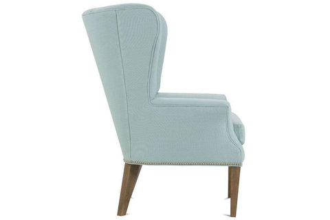 "Fabric Upholstered Accent Chairs And Chaise Ruth ""Designer Style""  Wing Back Fabric Accent Chair"
