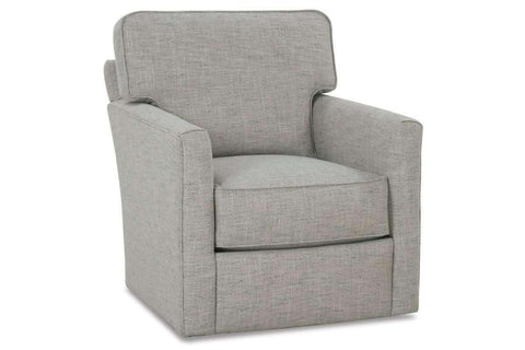 Fabric Upholstered Accent Chairs And Chaise Sandra Swivel Accent Chair