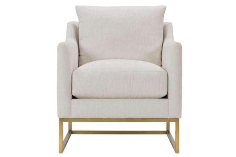 "Fabric Upholstered Accent Chairs And Chaise Tonya Gold ""Designer Style"" Fabric Chair With Exposed Metal Frame"