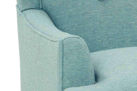 "Fabric Upholstered Accent Chairs And Chaise Whitley ""Hers"" Upholstered Button Back Arm Chair"