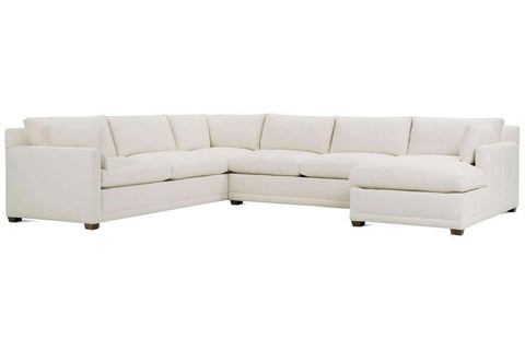 "Faith ""Designer Style"" Track Arm Fabric Sectional"