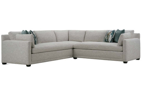 "Faith ""Designer Style"" Bench Seat Track Arm Fabric Sectional"