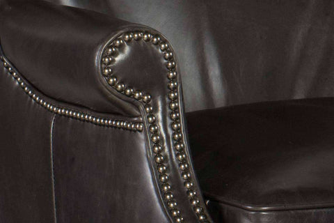 "Farrow Medal ""Quick Ship"" Leather Button Wingback Accent Chair- OUT OF STOCK UNTIL 3/5/20"