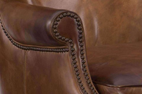 "Farrow Pawn ""Quick Ship Light Leather Button Wingback Accent Chair - OUT OF STOCK UNTIL 2/22/20"