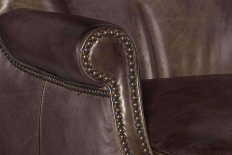 "Farrow Trade ""Quick Ship"" Tall Leg Button Back Leather Accent Chair- OUT OF STOCK UNTIL 2/06/20"