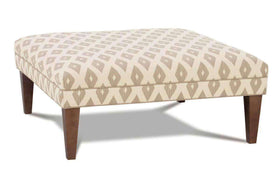 Fisher Contemporary Fabric Upholstered Cocktail Ottoman
