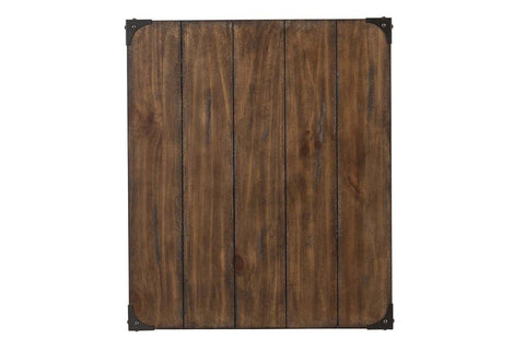 Gannon Rustic Weathered Brown Single Drawer Plank Top End Table