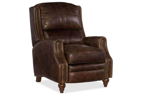 "Garfield Dual Power ""Quick Ship"" Bustle Back Leather Recliner With Power Headrest- OUT OF STOCK UNTIL 1/01/2021"