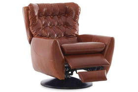 Garner Leather Swivel Recliner Chair