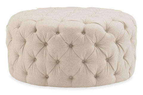 "Gemma ""Quick Ship"" Large Round Tufted Ottoman"