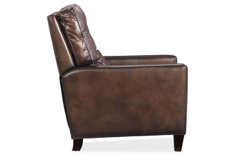 "Gibbons ""Quick Ship"" Button Pillow Back Leather Recliner"