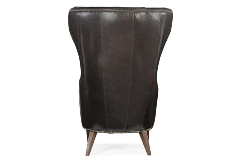 "Giorgio ""Quick Ship"" Tufted Tall Wing Back Leather Accent Chair"