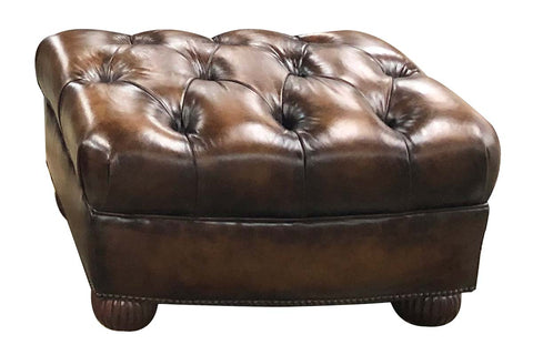 "Gleason ""Designer Style"" Large Tufted Club Chair"