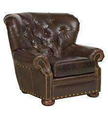 "Hadley ""Ready To Ship"" Tufted Leather Club Chair"