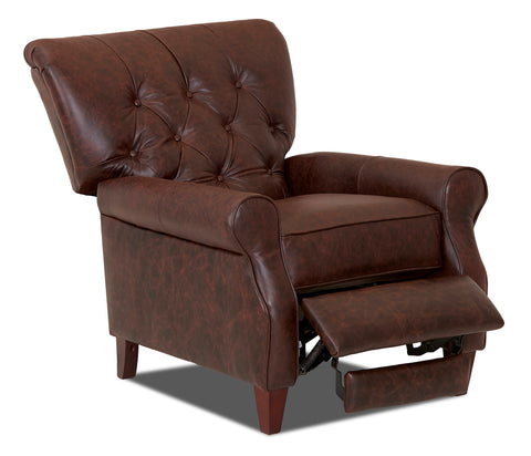 Halifax Tufted Leather Recliner