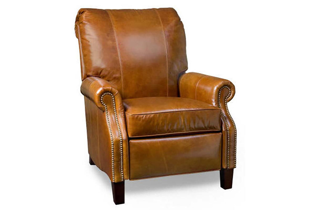 Hanover Traditional Leather Recliner With Nailhead Trim Club Furniture