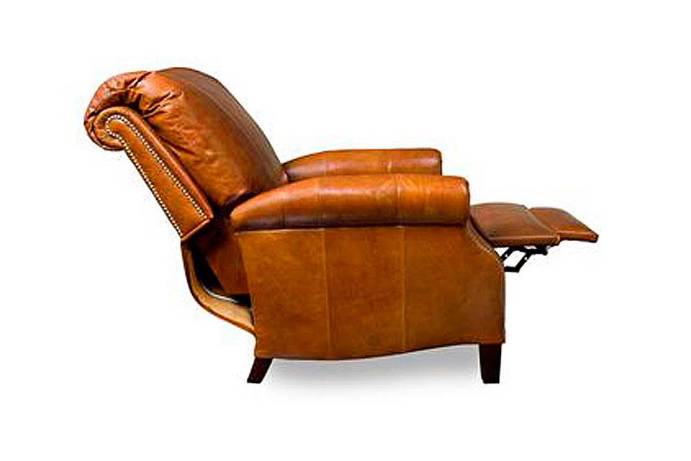 Marvelous Hanover Traditional Leather Recliner With Nailhead Trim Theyellowbook Wood Chair Design Ideas Theyellowbookinfo