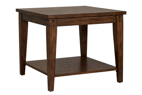 Harding Rustic Brown Oak Occasional Table Collection