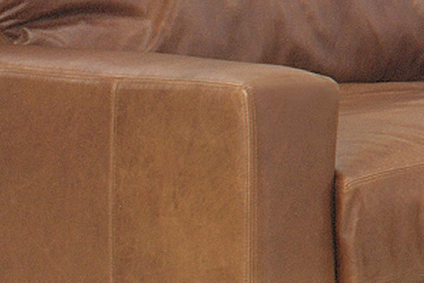 Harrison Contemporary Pillow Back Leather Club Chair