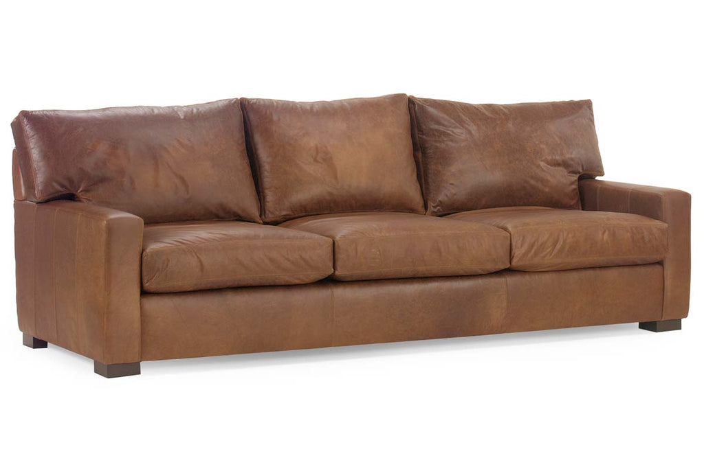 Harrison 87 Inch Leather Deep Seat Contemporary Queen Sleeper Sofa