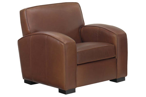 "Hayden ""Designer Style"" Contemporary Retro Leather Club Chair"