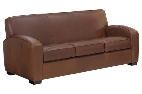 "Hayden 81 Inch ""Designer Style"" Contemporary Italian Leather Sofa"