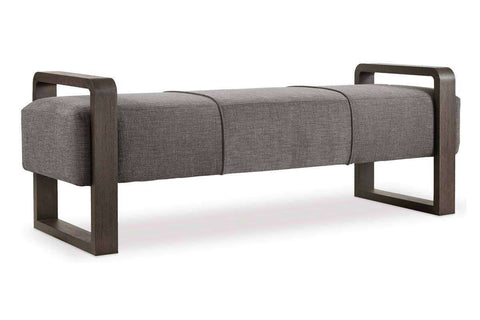 "Living Room Furniture Bench And Storage Ottomans Fabric Heath ""Quick Ship"" Contemporary Exposed Wood And Fabric Bench"