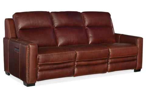 "Herman 85 Inch ""Quick Ship"" Wall Hugger 3-Way Power Leather Reclining Sofa"
