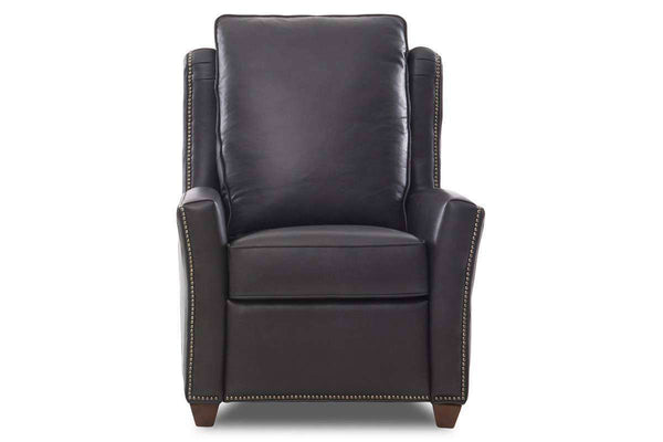 Holmes Pillow Wing Back Leather Power Incliner With Nailheads