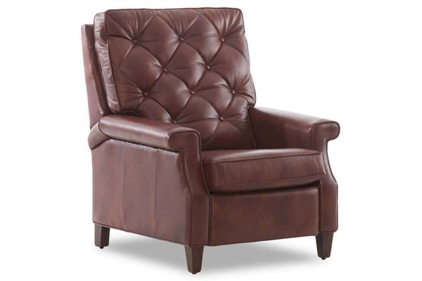 Hopkins Tufted Back Transitional Leather Recliner