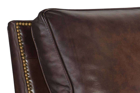 "Horatio ""Quick Ship"" Traditional Nailhead Leather Recliner"