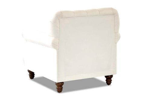 "Hubert ""Custom Value"" Tufted Fabric Living Room Fabric Upholstered Arm Chair"